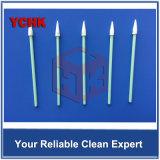 リント・フリー小型ヘッドほこりのない溶剤清浄化の綿棒の棒を吸収する