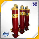 Cilindro telescópico hidráulico do petróleo para a descarga Truck&Trailer