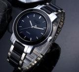 方法カップルの陶磁器のダイヤモンドの水晶腕時計の鋼鉄ストラップ