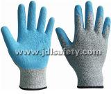 Анти--Отрежьте перчатку работы с голубой окунать латекса (LD8034)