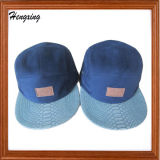 浮彫りになるロゴの新式の急な回復の帽子が付いている5つのパネルの帽子