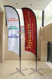 Подгонянный новый тип рекламируя флаг пляжа знамени пера с Поляк
