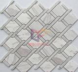 Mosaïque en marbre poli à découpage par jet d'eau pour les éclaboussures de cuisine (CFS1140)