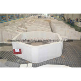 Fixierte Form Azs Ziegelsteine verwendet für hohe Korrosions-Ausdauer