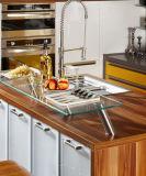 Gabinetes UV brancos & vermelhos do lustro brilhante de cozinha (ZX-028)