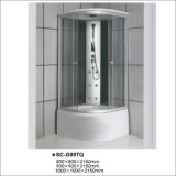 Quadrant Sliding Glass Steam Bathroom Shower Cubicle
