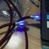 LEDライトサポート3D 4kが付いている金によってめっきされる1.4V HDMIケーブル