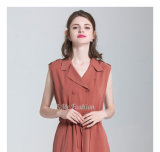 高品質細い適合の働く女性のオフィスのミディの服