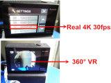 Mini DV pantalla dual teledirigida de la acción 4k de la cámara 30fps WiFi del deporte de la cámara verdadera lente de 170 grados
