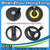 La roue de main plate en plastique pour on usinent