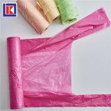 製造業者LDPE/HDPEのロールのカスタム台所タイのハンドルのごみ袋