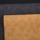 Doppelte Farbe rundes geprägtes PU-Leder, strukturiertes Faux-Beutel-Leder