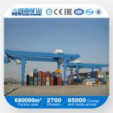 中国の上の製造業者のKuangyuanのブランドのレール敷の容器のRmgのガントリークレーン