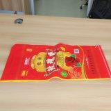 bolso tejido PP de 25kgs 50kgs para el grano del trigo del arroz