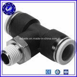 Plástico de 3 vías de aire neumáticos racores de conexión rápida de los Conectores adaptadores de inserción de neumáticos