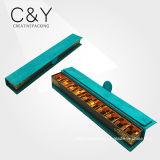 Caixa de empacotamento do chocolate azul do núcleo do cartão da camurça