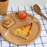 Hongdao bandeja de madera de color natural con mango para el desayuno bandeja de bandeja de servicio _E