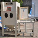 Máquina de sopro de areia da mesa giratória Cart-Type