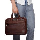 Горячий портфель неподдельной кожи Brown сбывания для бизнесменов