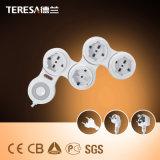 3 Contactdoos de Van uitstekende kwaliteit van de Uitbreiding van de Macht van de Fabrikanten van de manier met Havens USB