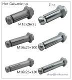 M16 creux d'extension de vis d'ancrage pour les applications d'acier