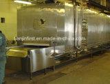 Túnel de la correa de acero inoxidable congelador para mariscos Sleeve-Fish