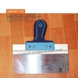Cuchillo de borradura escaliforme con la maneta de madera