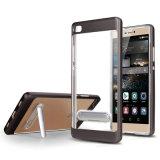 Случай мобильного телефона Анти--Падения пластичного случая акриловый прозрачный с держателем
