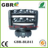 熱い販売! 8PCS X 10W RGBW LEDの移動ヘッドビーム/夜棒段階LEDのくものビームライト