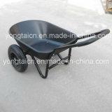 5立方フィートの二重車輪が付いている多皿の庭の一輪車