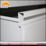 Alto casellario sottile lucido della melammina del metallo dei cassetti di verticale tre