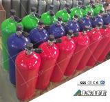 Los tanques de oxígeno cúbicos del salto del pie del equipo de submarinismo 80 con la válvula de K