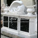 Надгробная плита Mem-155 Carrara мраморный каменного гранита мемориальная белая