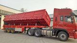 Fabricante 3 Ejes lateral del remolque del camión volquete de Semi-remolque