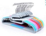 Ультра тонкая резина Flocked вешалки рубашки Multi функции пластичные