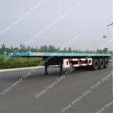 China-Fabrik-Verkauf 60 Tonnen Tri-Welle Flachbett-halb Schlussteil-