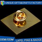 Distintivo promozionale di Pin di metallo con l'abitudine d'argento 2017 di placcatura