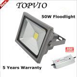 保証5年のの防水IP65 50W屋外LEDのフラッドランプ