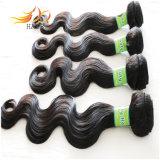 O cabelo malaio por atacado da onda do corpo do cabelo humano do Virgin 7A tece