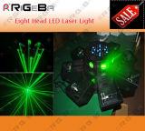 Indicatore luminoso capo di effetto del laser del UFO otto LED di DMX per il locale notturno