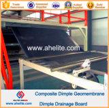 Geotextile Nonwoven PP цвета Geomembrane димпла HDPE составной черный