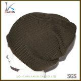 Winter-normale Hut-kundenspezifische Kennsatz-Stulpepreiswerte Knitbeanie-Schutzkappe