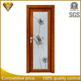 Hölzerne Farben-Aluminiumlegierung-Glasflügelfenster-Toiletten-Tür der Qualitäts-2017