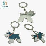 O metal feito sob encomenda Crafts o cão Eco-Friendly Keychain do metal da liga do zinco do esmalte