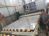 Il marmo bianco delle vene grigio-chiaro Polished del rifornimento copre di tegoli le mattonelle della parete