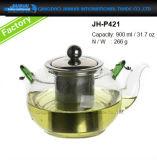 400-1200ml personalizzato ha trattato il contenitore di vetro del creatore di tè