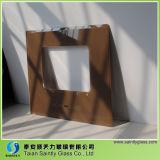 Cobertura de vidro temperado Cobre Capa de cozinha com tela de seda