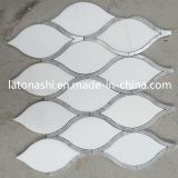 Interior Decoration를 위한 ODM Design White Marble Mosaic Wall Tile