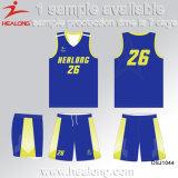 Healong新しいデザインスポーツ・ウェアギヤ組合せは昇華バスケットボールのユニフォームを大きさで分類する