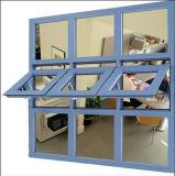 Finestra di alluminio rivestita della tenda di profilo della polvere di colore del Brown